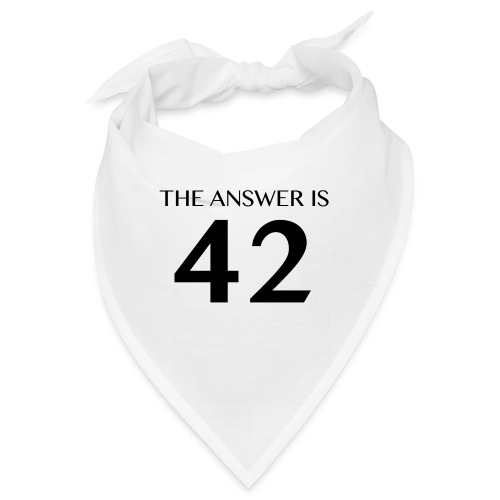 The Answer is 42 Black - Bandana