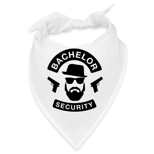Bachelor Security - JGA T-Shirt - Bräutigam Shirt - Bandana