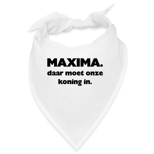 Maxima daar onze Koning in - Bandana