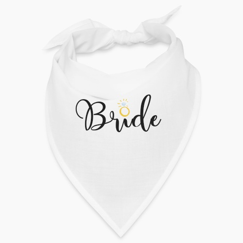 Bride - Slogan with a Diamond Ring - Bandana