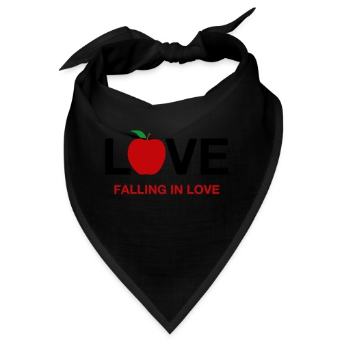 Falling in Love - Black - Bandana