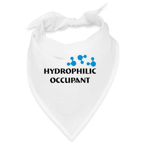 Hydrophilic Occupant (2 colour vector graphic) - Bandana
