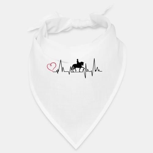 Heartbeat Dressurreiterin klassisch Herz - Bandana