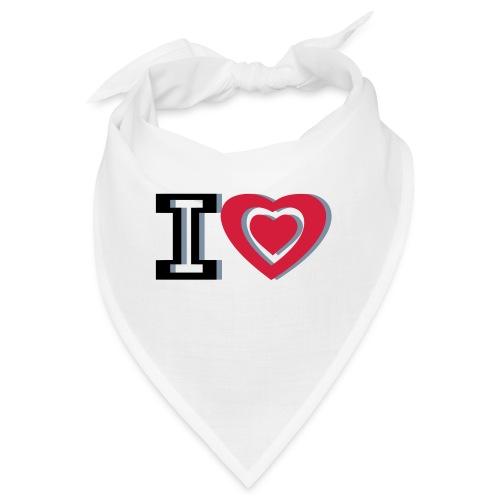 I LOVE I HEART - Bandana