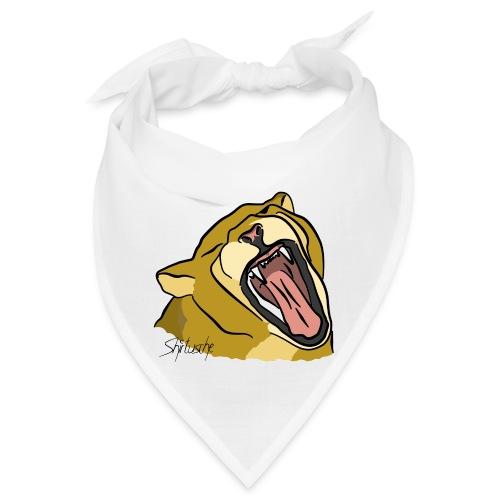 Gähnender / brüllender Löwe - Bandana