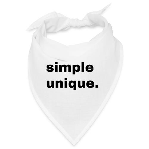simple unique. Geschenk Idee Simple - Bandana