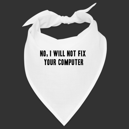 No, I will not! - Snusnäsduk