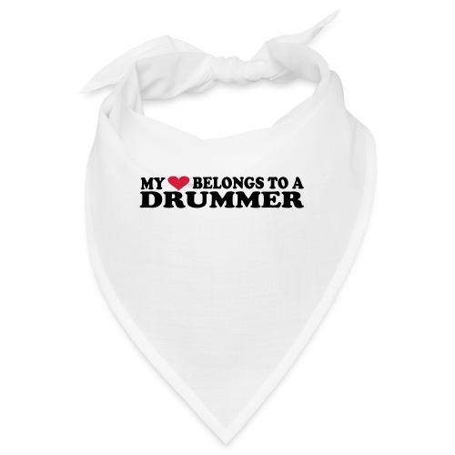 MY HEART BELONGS TO A DRUMMER - Bandana