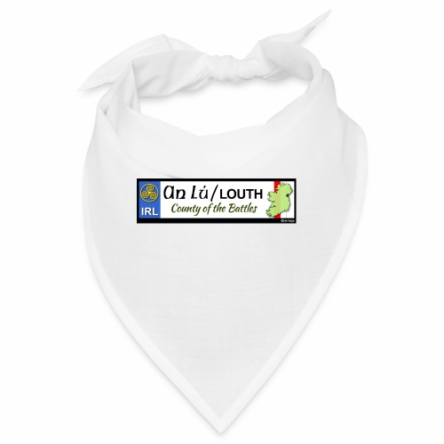 CO. LOUTH, IRELAND: licence plate tag style decal - Bandana