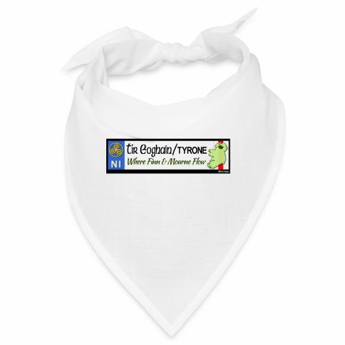 TYRONE, NORTHERN IRELAND licence plate tags decal - Bandana