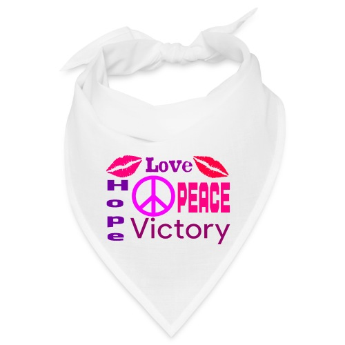 Cool Mask No. 11 - Love, Peace, Hope & Victory - Bandana