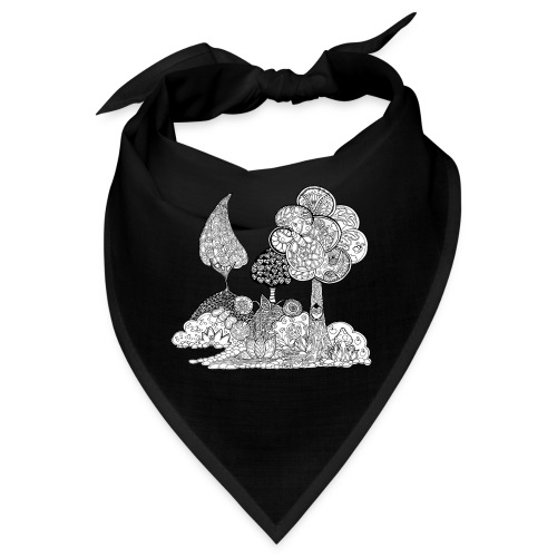 Le jardin d Elise en noir et blanc - Bandana