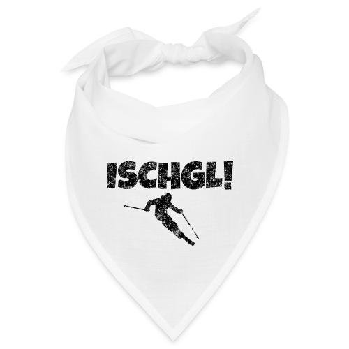 Ischgl Skifahrer (Schwarz) Apres-Ski Wintersport - Bandana