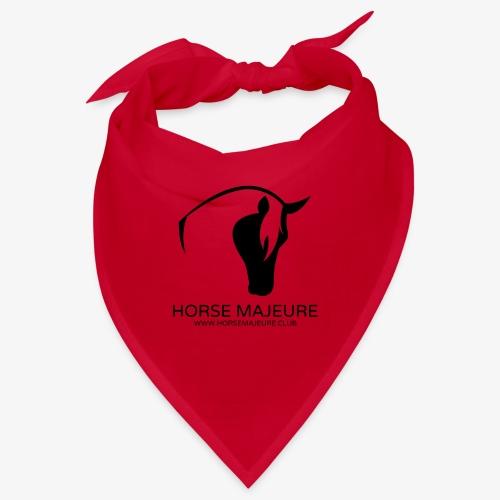 Horse Majeure Logo / Musta - Bandana