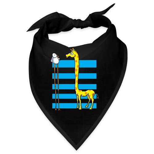 La girafe et l'échassier - Bandana