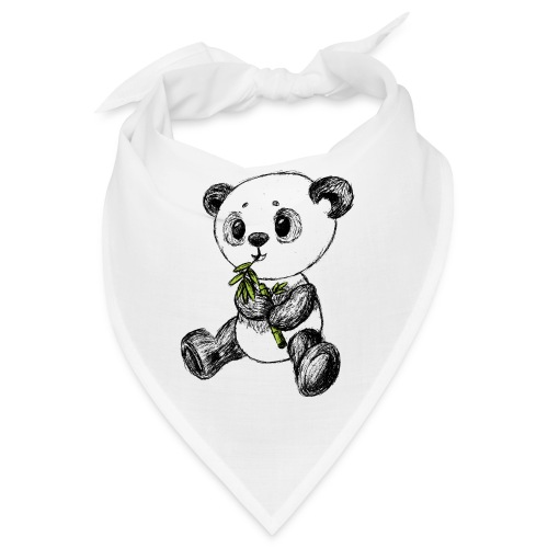 Panda Bär farbig scribblesirii - Bandana