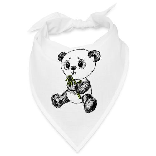 Panda bear colored scribblesirii - Bandana