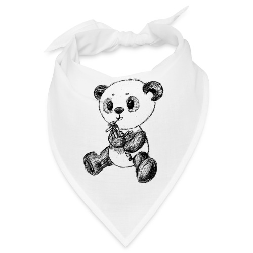 Panda Karhu musta scribblesirii - Bandana