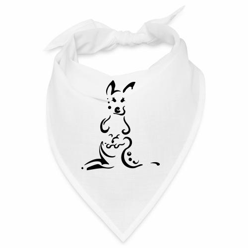 Kangourous, design tribal épuré - Bandana