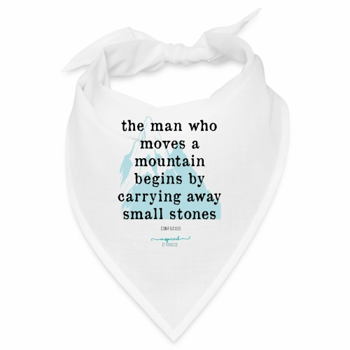 Confucius` Quote - The man who moves a mountain - Bandana