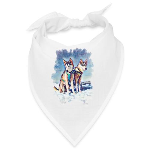 Huskies im Schnee - Bandana