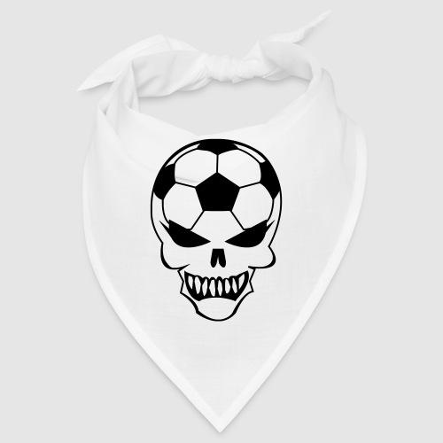 Fußball-Totenkopf - Bandana