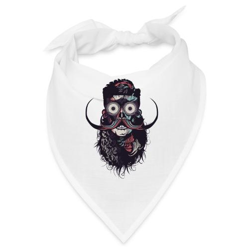 hipster tete de mort crane barbu skull moustache b - Bandana
