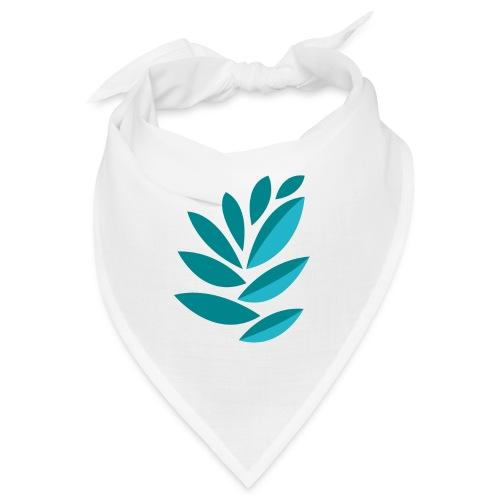 disegno foglie azzurre - Bandana