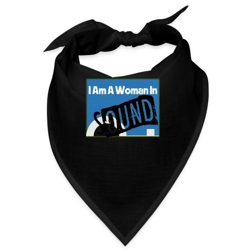 woman in sound - blue - Bandana