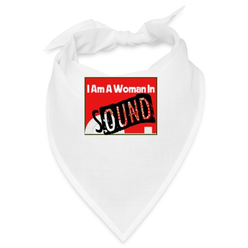 I am a woman in sound - red - Bandana
