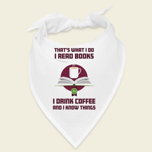 Buch und Kaffee, dunkel - Bandana