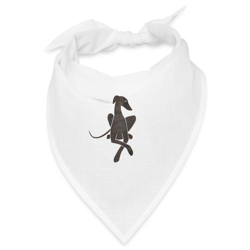 Liegender Windhund dunkelgrau - Bandana