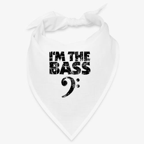 I'm the Bass Vintage Black (Clef) - Bandana