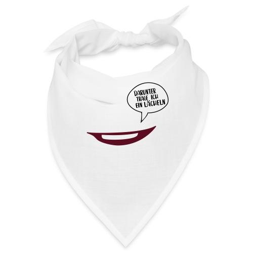 Maske - darunter trage ich ein Lächeln No.71 - Bandana