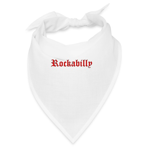 rockabilly red contour noir - Bandana