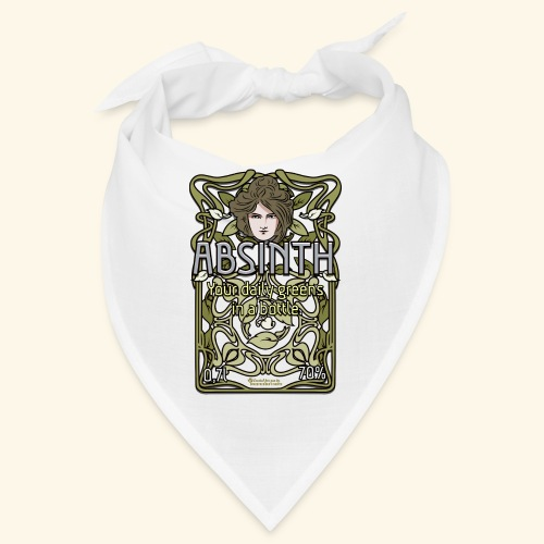 Absinth Your Daily Greens in a Bottle Art Nouveau - Bandana