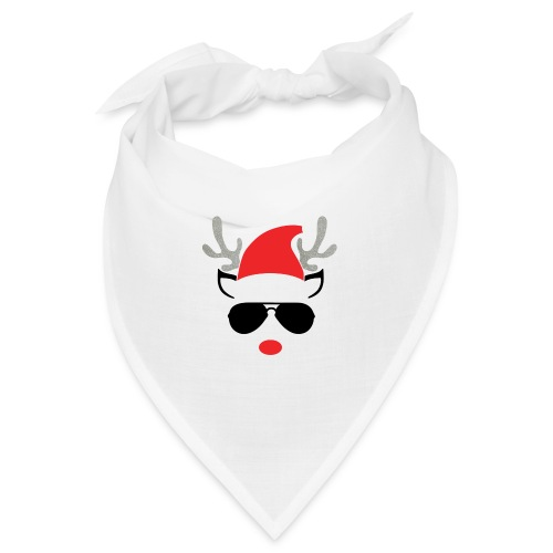 Cute Christmas Reideer with glasses for boys - Bandana