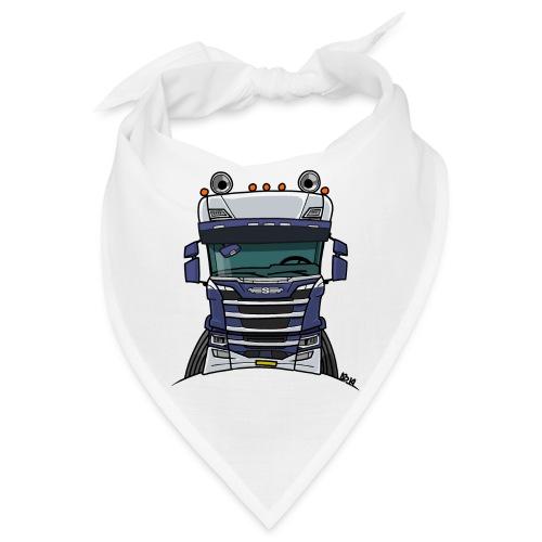 0814 S truck blauw wit - Bandana