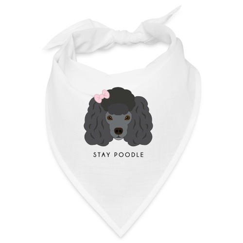 Poodle Black - Bandana