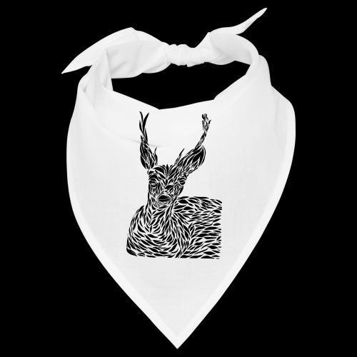 deer black and white - Bandana