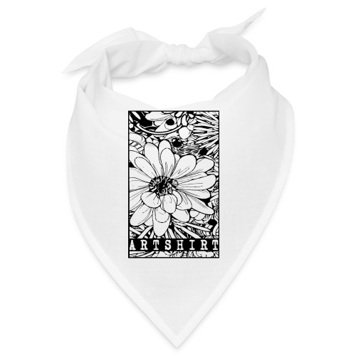 bloem motief artshirt - Bandana