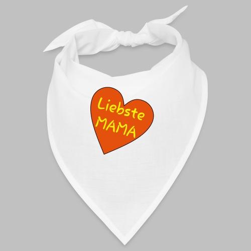 Liebste Mama - Auf Herz ♥ - Bandana