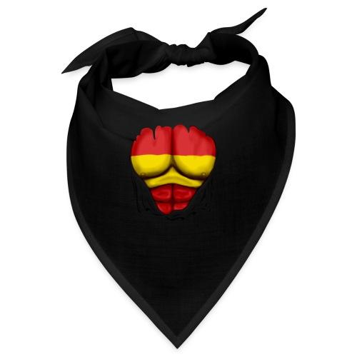 España Flag Ripped Muscles six pack chest t-shirt - Bandana