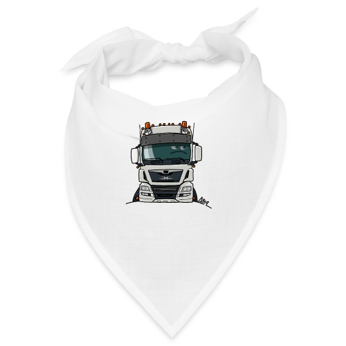 0819 M truck white - Bandana