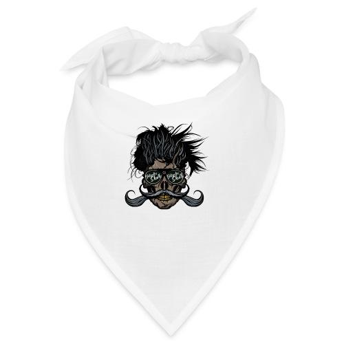 hipster skull tete de mort crane barbu moustache - Bandana