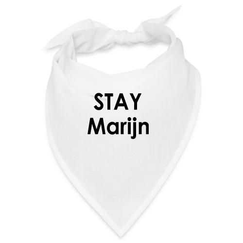 stay marijn black - Bandana