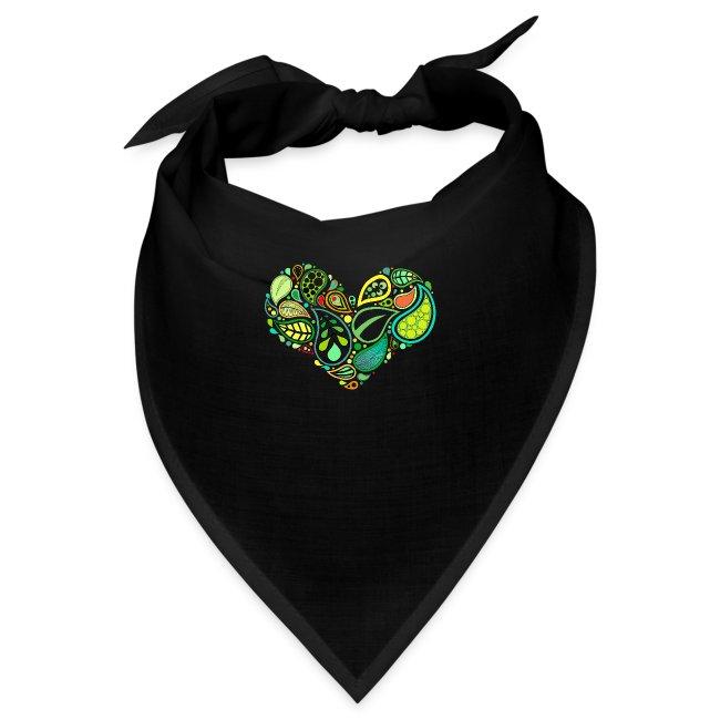 Green Leaf Heart Mandala