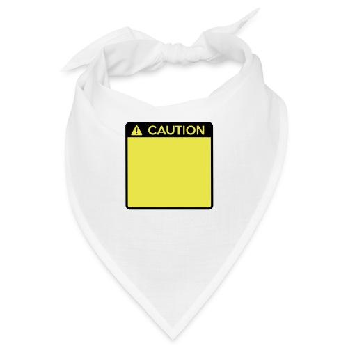 Caution Sign (2 colour) - Bandana