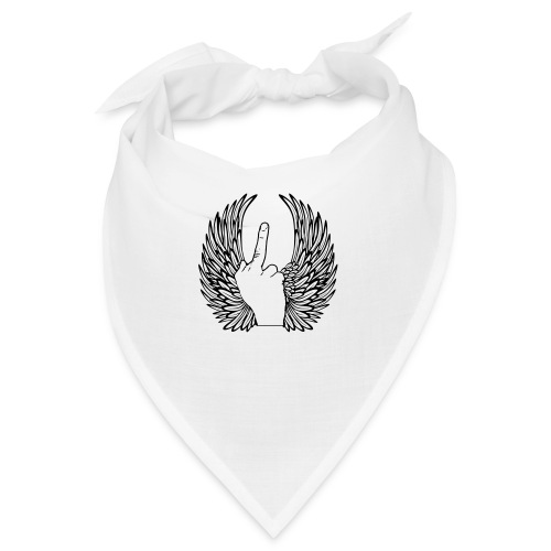 middle finger with wings - Bandana