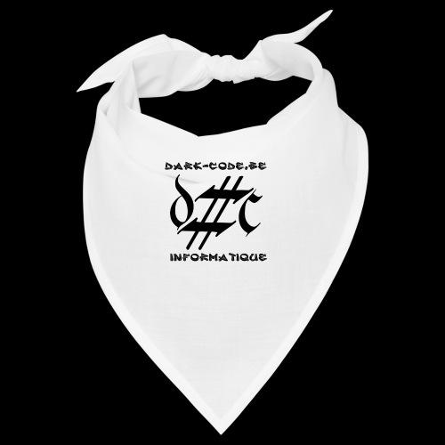 Dark-Code Black Gothic Logo - Bandana